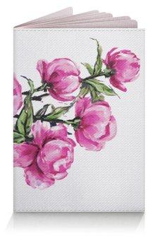 """Обложка для паспорта """"Пионы"""" - цветы, весна, розовый, подарок, пион"""