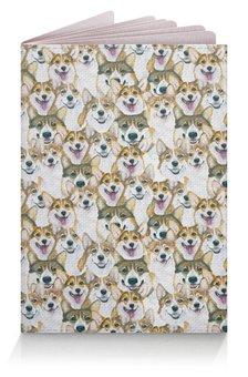 """Обложка для паспорта """"много корги"""" - животные, собака, корги, вельшкорги"""