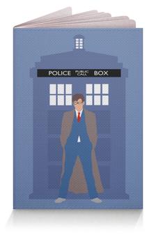"""Обложка для паспорта """"Доктор Кто и ТАРДИС / Doctor Who & TARDIS"""" - doctor who, tardis, доктор кто, тардис, полицейская будка"""