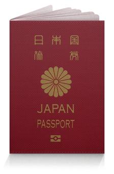 """Обложка для паспорта """"Паспорт подданного Японии"""" - подданный, обложка, паспорт, япония, страна"""