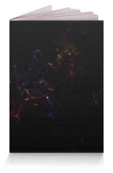 """Обложка для паспорта """"Туманность"""" - узор, космос, графика"""