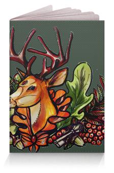 """Обложка для паспорта """"deer green"""" - green, олень, tm kiseleva"""
