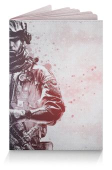 """Обложка для паспорта """"Солдат (Поле Битвы)"""" - армия, война, bf, батла"""