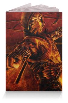 "Обложка для паспорта ""Скорпион (Мортал Комбат)"" - mk, scorpion"