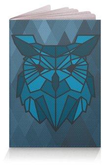 """Обложка для паспорта """"Обложка Геометричная сова"""" - сова, птицы, геометрия, owl, lowpoly"""