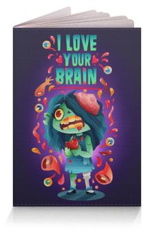 """Обложка для паспорта """"Милашка зомби"""" - любовь, арт, zombie, зомби, девочка"""