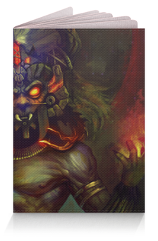 "Обложка для паспорта ""Колдун (Diablo 3)"" - дьявол, диабло, колдун"