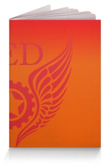 """Обложка для паспорта """"RED'S Logo"""" - red, мотоцикл, байкер, шестерёнки, механика"""