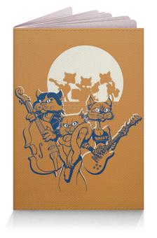 """Обложка для паспорта """"Кошачий концерт"""" - музыка, группа, кошки, джаз, концерт"""