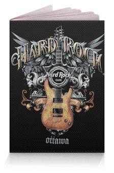 """Обложка для паспорта """"МУЗЫКА. HARD ROCK"""" - крылья, гитара, герб россии, эмблема, стиль надпись логотип яркость"""