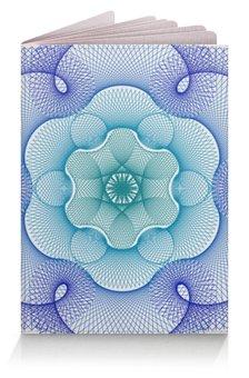 """Обложка для паспорта """"Узор сине-зеленый гильош"""" - узор, орнамент, геометрия, гильош"""
