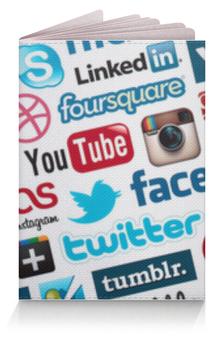 """Обложка для паспорта """"Будь в курсе"""" - twitter, you tube, instagramm"""