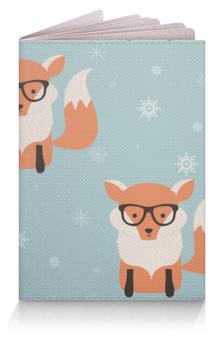 """Обложка для паспорта """"Лисички"""" - лисички, животные, очки"""