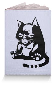 """Обложка для паспорта """"Котяра"""" - кот, злой"""