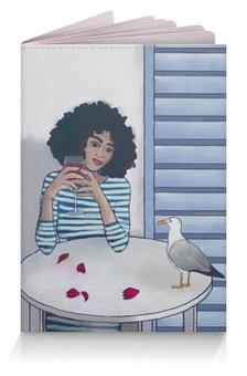 """Обложка для паспорта """"Последнее свидание"""" - девушка, лето, цветы, море, вино"""