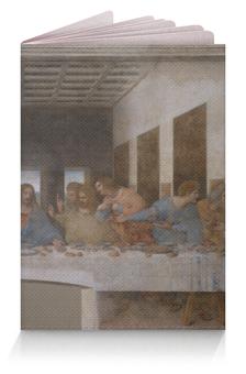 """Обложка для паспорта """"Тайная вечеря (Леонардо да Винчи)"""" - картина, леонардо да винчи"""