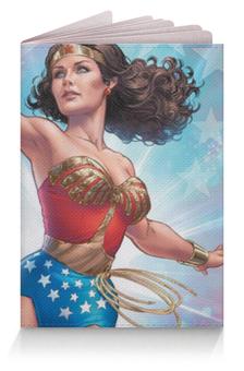 """Обложка для паспорта """"Чудо-Женщина"""" - wonder woman"""