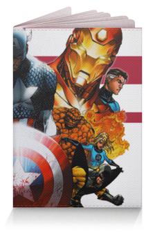 """Обложка для паспорта """"Супергерои  Комиксов"""" - росомаха, существо, железный человек, iron man, капитан америка"""