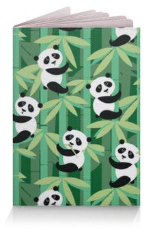 """Обложка для паспорта """"Жизнь панд"""" - узор, животные, панда, лес, бамбук"""