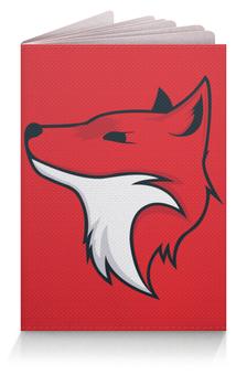"""Обложка для паспорта """"Fox / Лиса"""" - арт, животные, красный, графика, лиса"""