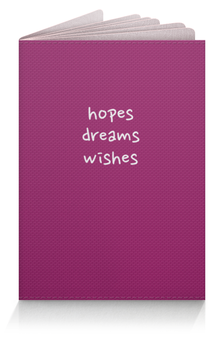 "Обложка для паспорта ""Hopes, dreams, wishes"" - надежды"