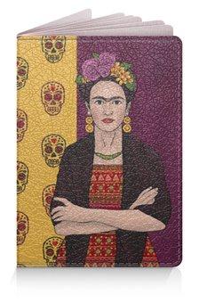 """Обложка для паспорта """"Фрида"""" - художник, мексика, фрида кало, фрида"""