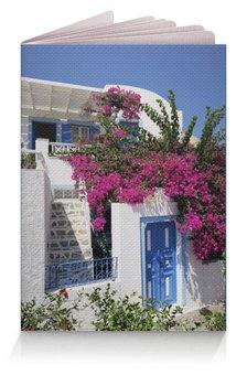 "Обложка для паспорта """"Греция. Остров Санторини"""" - цветы, путешествия, travel, греция, санторини"