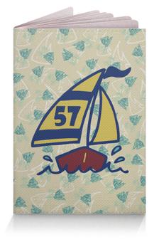 """Обложка для паспорта """"Кораблик"""" - спорт, кораблик, море, рыба, яхта"""