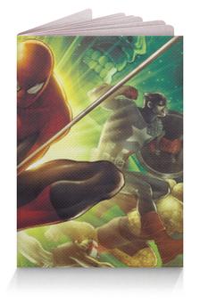 """Обложка для паспорта """"Мстители"""" - халк, капитан америка, человек паук, she-hulk, spider man"""