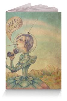 """Обложка для паспорта """"Марс, привет???"""" - mars, hello, phone"""