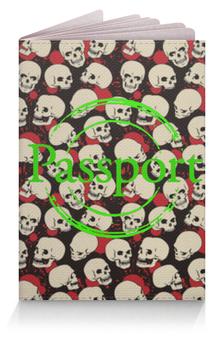 """Обложка для паспорта """"Крупные черепа"""" - skull, череп, арт, черепа, skulls"""