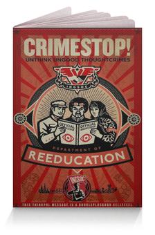 """Обложка для паспорта """"Crimestop!"""" - big brother, 1984, оруэлл"""