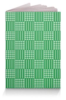 """Обложка для паспорта """"Горох и линия"""" - зеленый, квадрат, геометрия, линия, горох"""