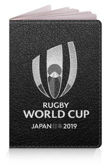 """Обложка для паспорта """"Кубок Мира по регби в Японии"""" - спорт, регби, япония, болельщик"""