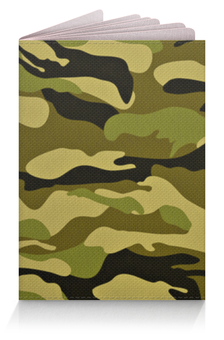 """Обложка для паспорта """"Камуфляж"""" - армия, солдат, camo, воцна"""