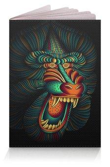 """Обложка для паспорта """"МАСКИ. ОБЕЗЬЯНА"""" - животные, герб россии, абстракция, стиль эксклюзив креатив красота яркость, арт фэнтези"""