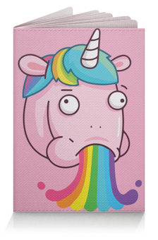 "Обложка для паспорта ""Unicorn's Rainbow / Радуга Единорога"" - unicorn, rainbow, радуга, единорог, животные"