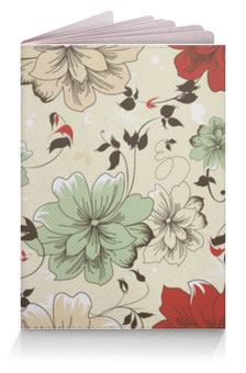 """Обложка для паспорта """"Цветы"""" - красиво, узор, цветок, мило"""