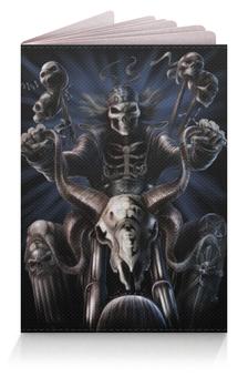 """Обложка для паспорта """"скелеты фэнтези"""" - стиль, бандана, скелет-рокер"""