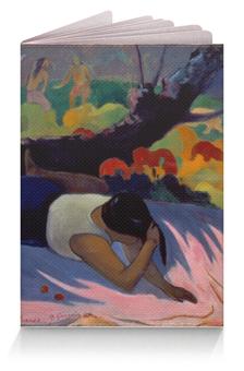 """Обложка для паспорта """"Забава злого духа (Поль Гоген)"""" - картина, поль гоген"""