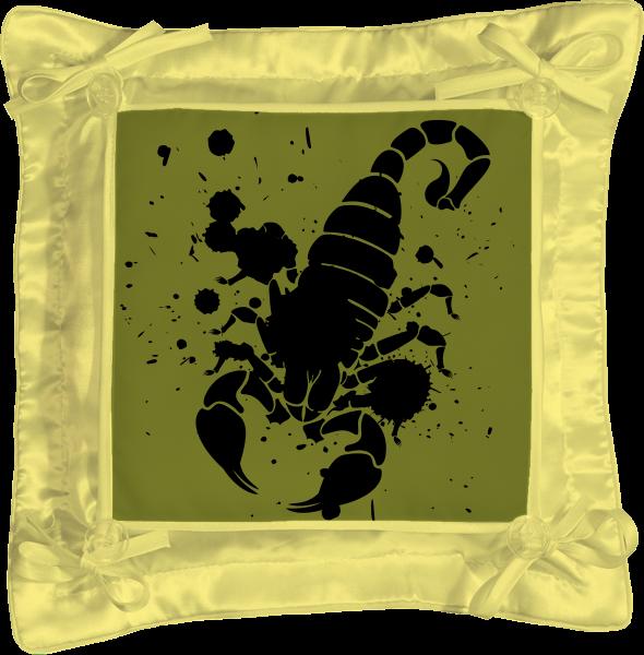 Подушка простая Printio Скорпион (24.10-21.11)