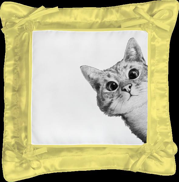 Подушка простая Printio Любопытный кот