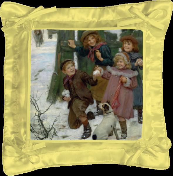 Подушка простая Printio Картина артура элсли (1860-1952) картины magic home картина репродукция дворик