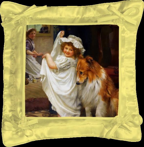 Подушка простая Printio Картина артура элсли (1860-1952) картины decoretto картина завтрак для любимой