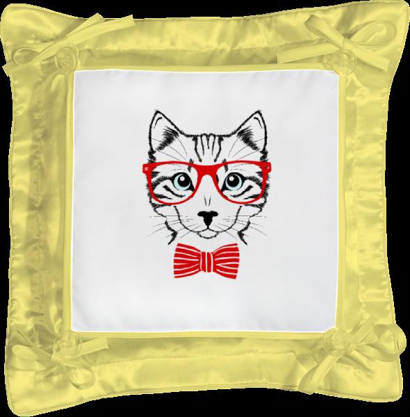 Подушка простая Printio Кошка андрей дашков домашнее животное