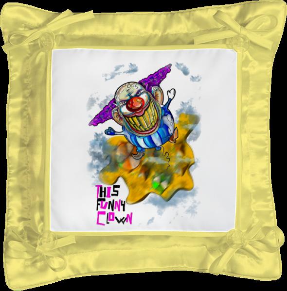 Подушка простая Printio Смешной клоун