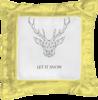 """Подушка простая """"Dear Deer"""" - рисунок, дизайн, олень, минимализм, рога"""