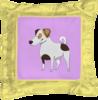 """Подушка простая """"ДЖЕК РАССЕЛ.СОБАКА"""" - майкл джексон, щенок, собака, животное, рассел"""