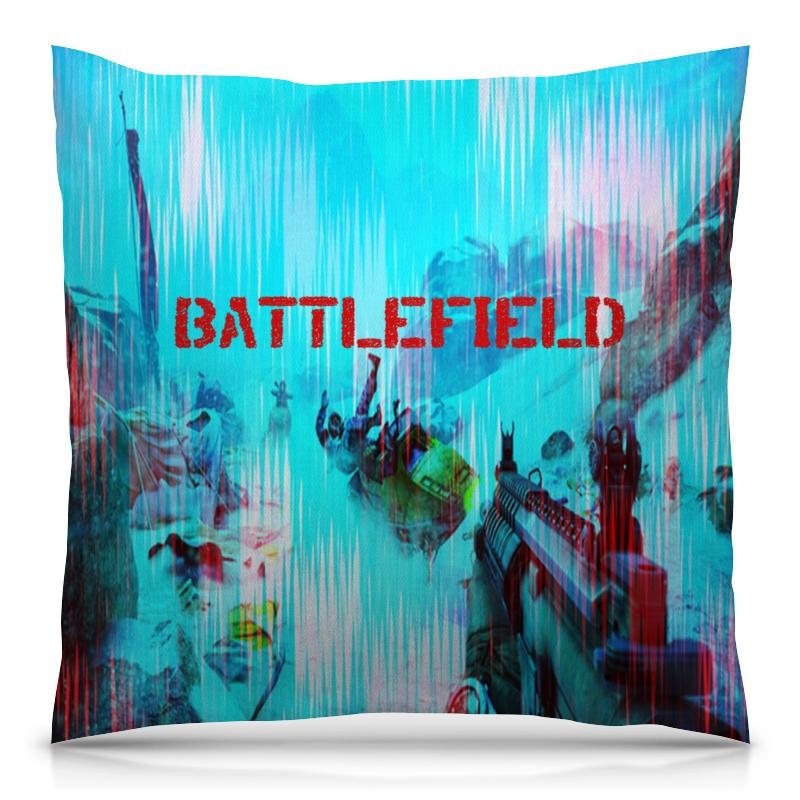 Подушка 40х40 с полной запечаткой Printio Battlefield футболка с полной запечаткой женская printio battlefield v