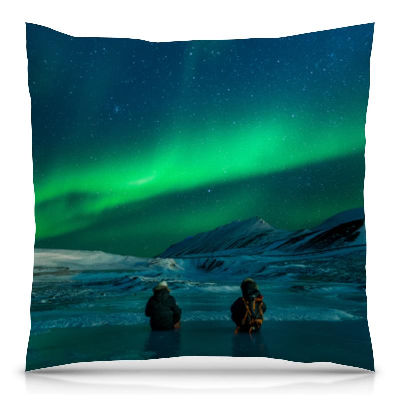 Подушка 40х40 с полной запечаткой Printio Северное сияние redwood большой северное сияние с подсветкой